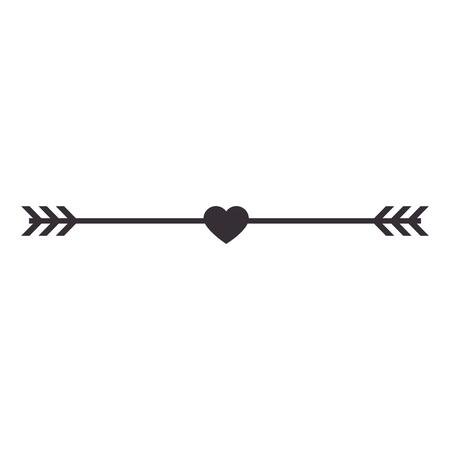 heart valentine arrowed icon, vector illustration, graphic, design