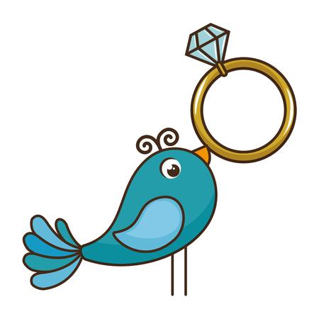 結婚式ダイヤモンド リング アイコン ベクトル イラスト グラフィック デザイン