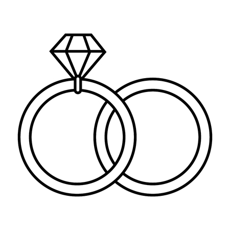 wedding diamond ring icon vector illustration graphic design Ilustração