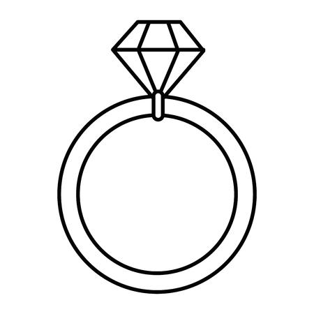 ウェディングダイヤモンドリングアイコンベクトルイラストグラフィックデザイン 写真素材 - 85076798
