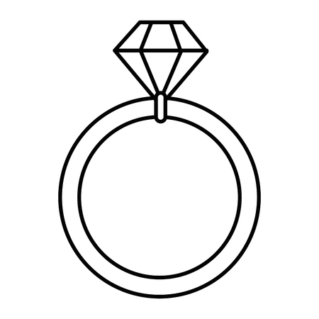 Wedding Diamond Ring Icon Vector Illustration Graphic Design Royalty