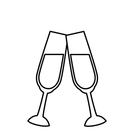 champagne cup crystal icon, vector illustration graphic, design