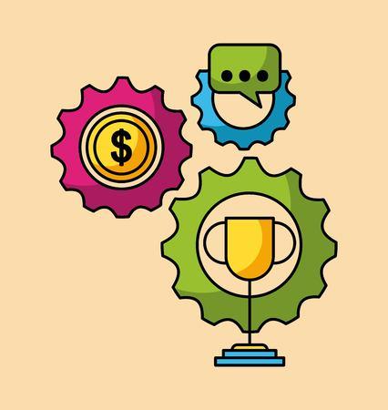 Ensemble de l & # 39 ; entreprise et des finances web application image vectorielle illustration Banque d'images - 85126031