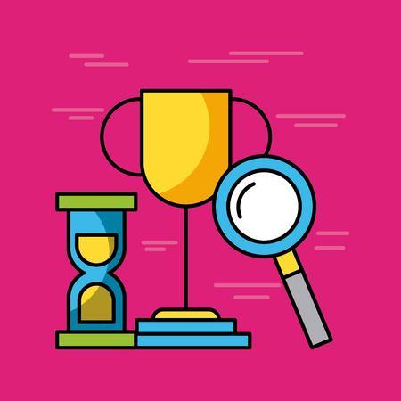 Définir des icônes d & # 39 ; affaires et de finances image vectorielle web illustration Banque d'images - 85192221