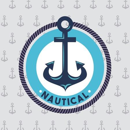 앵커 해양 수생 또는 해상 테마 디자인 벡터 일러스트 레이션 일러스트
