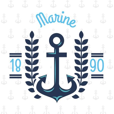 Anchor marine aquatic or nautical theme design vector illustration 向量圖像