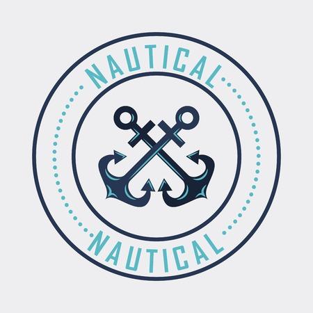 anchor marine aquatic or nautical theme design vector illustration