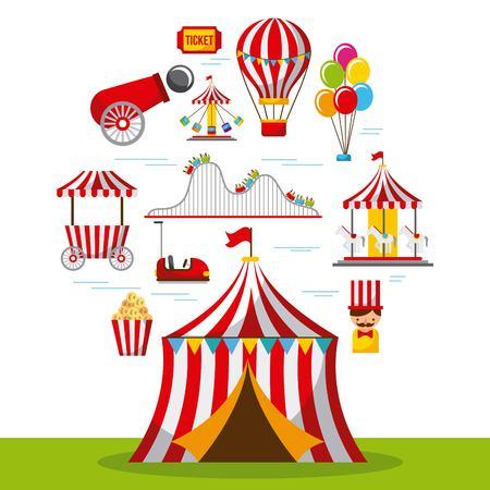 Van het de pret eerlijke festival van Carnaval het park vectorillustratie
