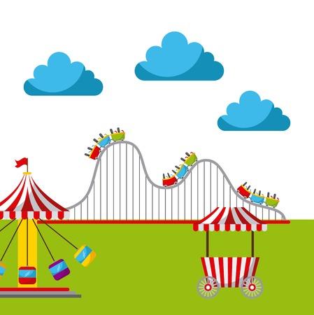Carnival fun fair festival circus park vector illustration Stock Vector - 85127501