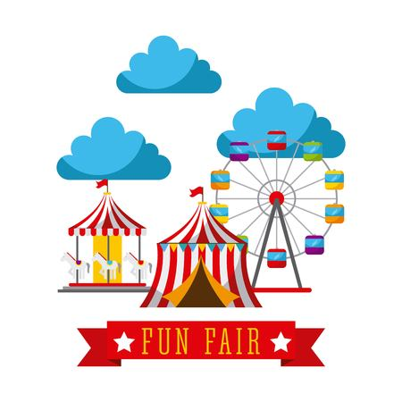 Amusement fun fair theme park poster
