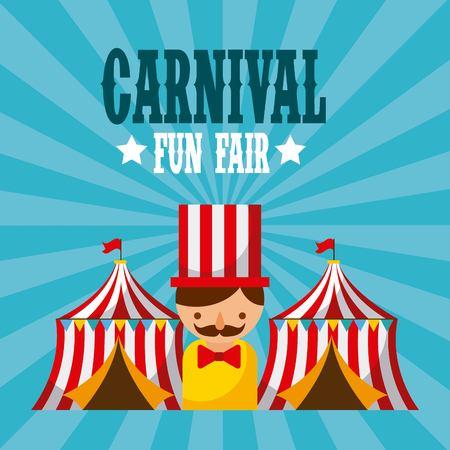 Carnaval plezier festival vector