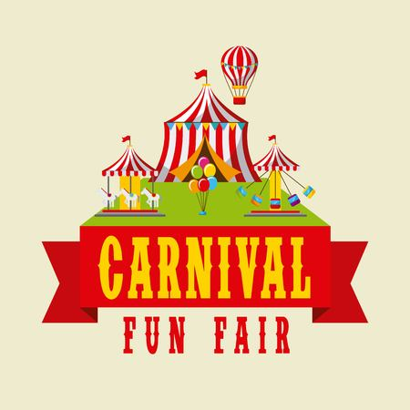 Carnival fun fair festival vector