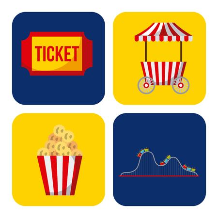 Collection of elements related to carnival and circus Stock Vector - 85132520
