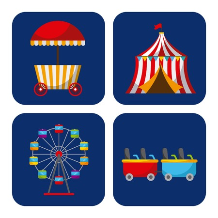 Collection of elements related to carnival and circus Stock Vector - 85132521