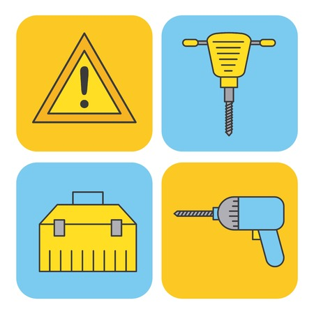 Collection of construction tools Ilustracja