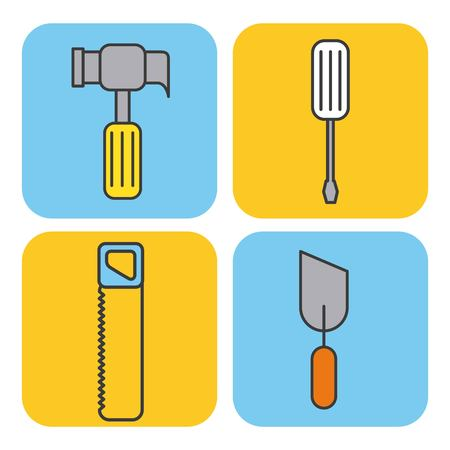 Collection of under construction tools Ilustracja