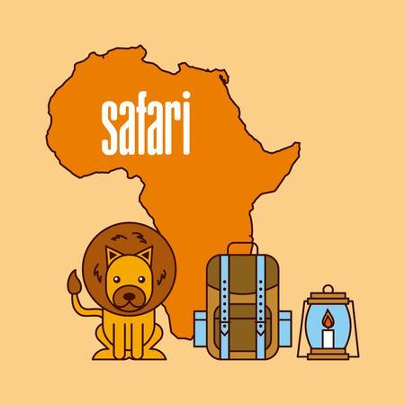 Travel adventure animal map