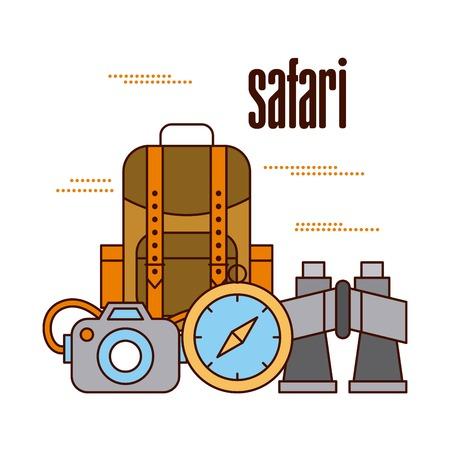 Travel adventure equipment Ilustrace