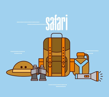 Travel adventure equipment Ilustração
