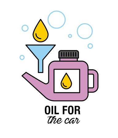 oil for the car motor mechanic service transport vector illustration Ilustracja