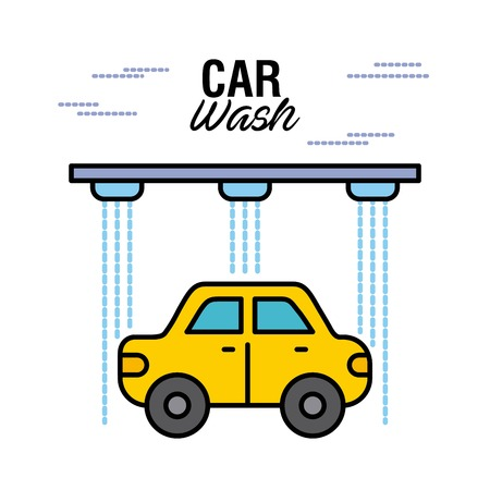 car wash service auto station business vector illustration