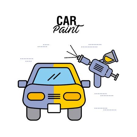 auto verf service airbrush kleur vector illustratie