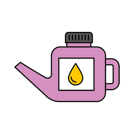 fuel canister gasoline can handle drop vector illustration Ilustracja