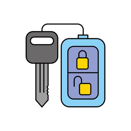 あなたの車のベクトル図のセキュリティ リモート コントロール  イラスト・ベクター素材