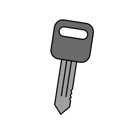 car key auto service repair isolated icon on white background vector illustration
