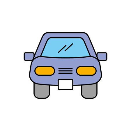 cartoon car vehicle transport front view icon vector illustration Иллюстрация