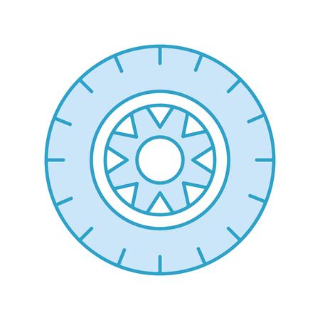 車ホイール サービス コンセプト車両保守道路ベクトル図