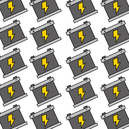 battery repair service garage seamless pattern design vector illustration