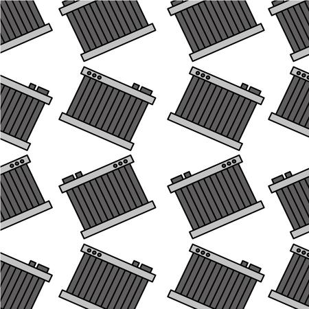 car radiator repair service garage seamless pattern design vector illustration