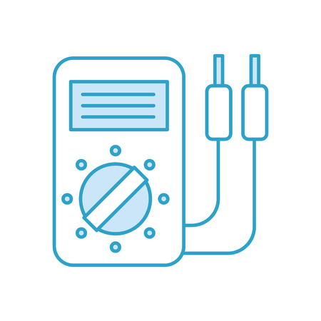 car battery tester appliance measure power vector illustration Çizim