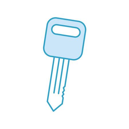 Icono aislado de la reparación auto del servicio de la llave del coche en la ilustración del vector del fondo blanco Foto de archivo - 85131099