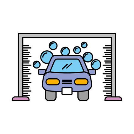 Illustrazione vettoriale icona del servizio lavaggio automatico lavaggio auto Archivio Fotografico - 85131191