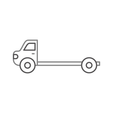 cartoon tow truck repair transport assistance vector illustration Illustration