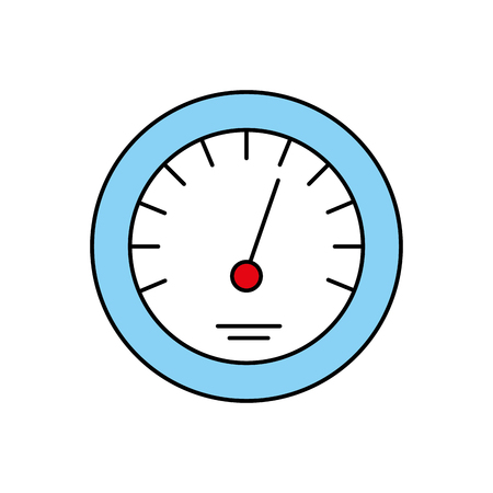 타이머 아이콘 규모 표시기 빠른 성장 속도 벡터 일러스트 레이션