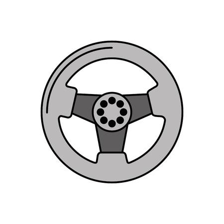 car steering wheel function part vehicle icon vector illustration Illustration