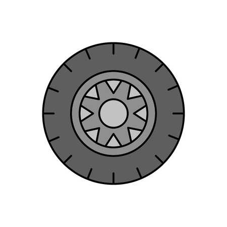 car wheel service concept vehicle maintenance road vector illustration Ilustrace