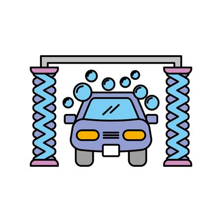 Servizio di lavaggio automatico shampoo servizio centro icona illustrazione vettoriale Archivio Fotografico - 85131206