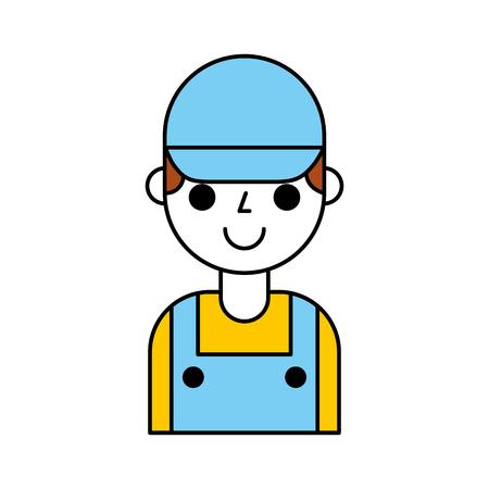 Reparateur ingenieur assistent werker pictogram vector illustratie Stockfoto - 85131210