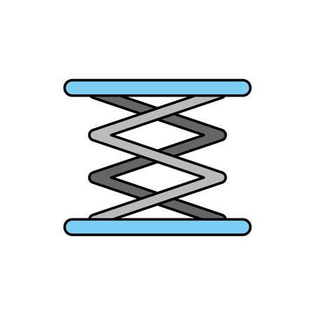 self propelled lift hydraulic machine image vector illustration Illustration