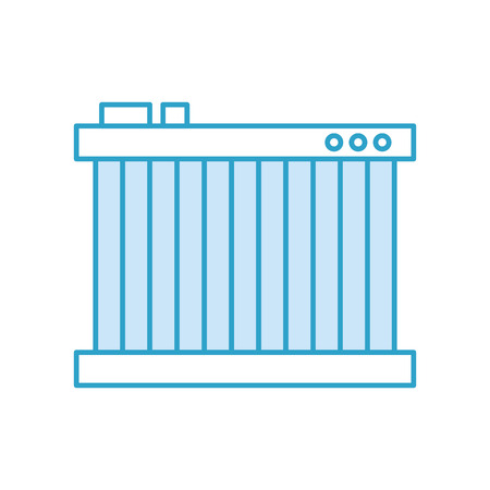 radiator for cooling the car motor liquids vector illustration