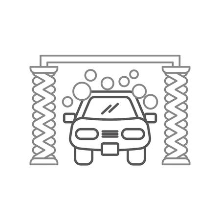 Illustrazione vettoriale icona del servizio lavaggio automatico lavaggio auto Archivio Fotografico - 85131574