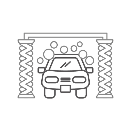 automatic car wash shampoo service center icon vector illustration Illustration