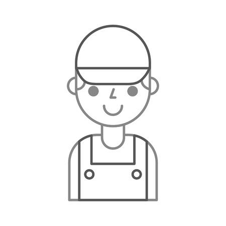 reparateur ingenieur assistent werker pictogram vector illustratie