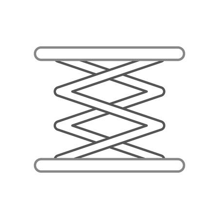 zelfrijdende lift hydraulische machine afbeelding vector illustratie