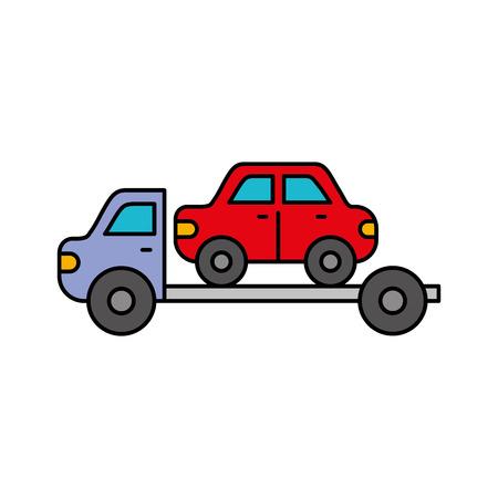 牽引トラック支援車のベクトル図の緊急  イラスト・ベクター素材