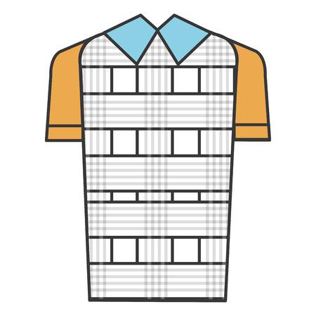 격자 무늬 스웨터 클래식 아이콘 벡터 일러스트 디자인